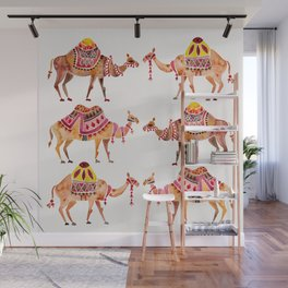 Camel Train Wall Mural