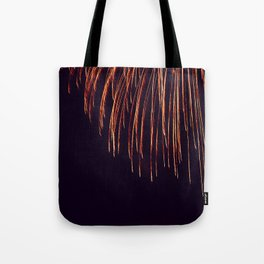 Beautiful Red and Orange Fireworks falling down in the sky! Tote Bag