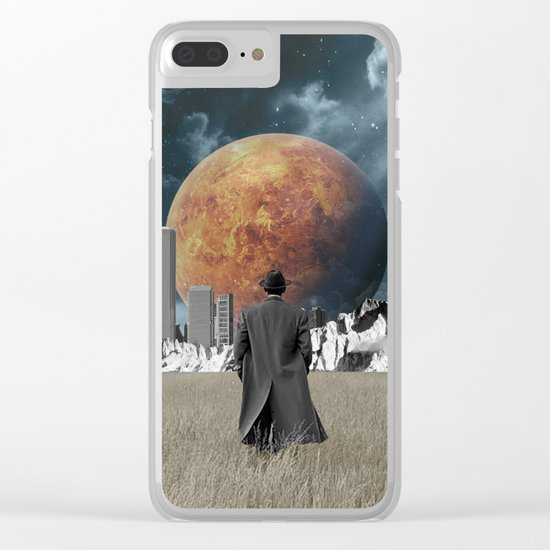 Out of the past & into the future Clear iPhone Case