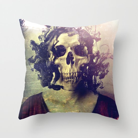Miss Skull Throw Pillow