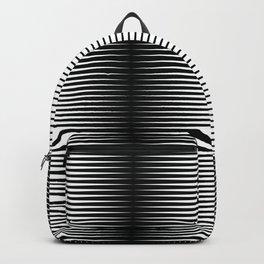 op art - horizontal triangles Backpack