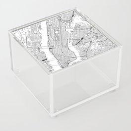 New York City White Map Acrylic Box