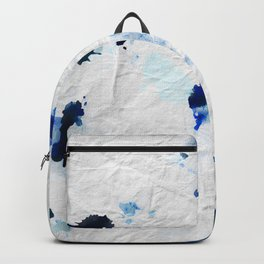 Accidental Blue and Black Ink Spot Abstract Art Backpack