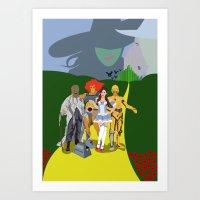 oz Art Prints featuring Oz by revolver74