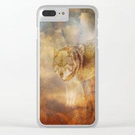Disappearing Wolf Clear iPhone Case