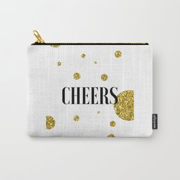 Champagne Quotes Cheers POP FIZZ CLINK Sign Printable Art Foil Print Gold Foil Alcohol Quote Carry-All Pouch