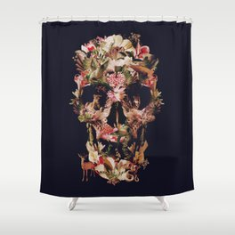 Jungle Skull Shower Curtain
