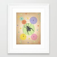 bug Framed Art Prints featuring bug by mark ashkenazi