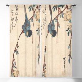 Blue Chickadee Blackout Curtain