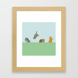 The Red Dot Invasion Framed Art Print