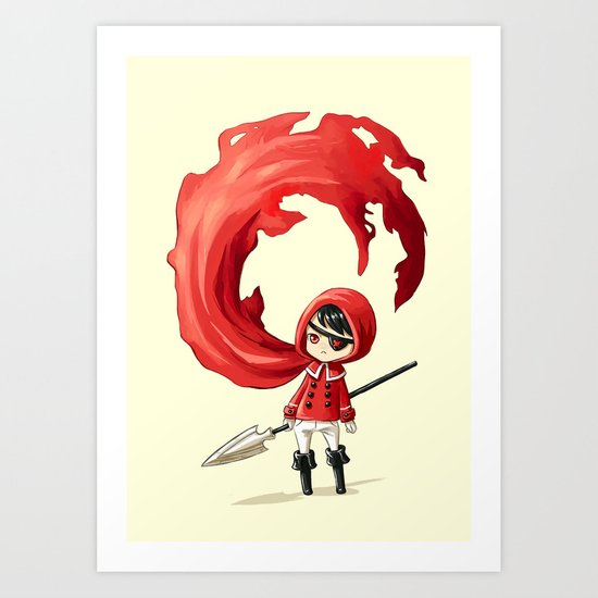 Red Cape Art Print