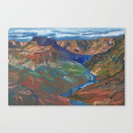 Grand Canyon Oil Painting Canvas Print