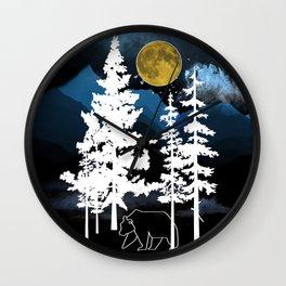 Full Moon Rising II Wall Clock