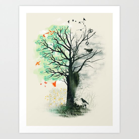 They Loved the Landscape to Death Art Print