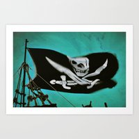 "pirate ship Art Prints featuring ""Pirate Ship"" by Bella Blue Photography"