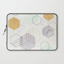 Hexagon Scatter Laptop Sleeve