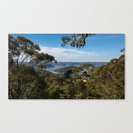 View of Hawkesbury River from Muogamarra Reserve, Sydney Canvas Print