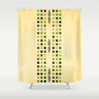 flora Shower Curtains featuring Flora by Diogo Verissimo