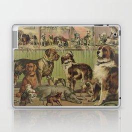 Vintage Illustration of Various Dog Breeds (1893) Laptop & iPad Skin
