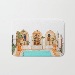 Turkish Holiday #painting #travel Bath Mat
