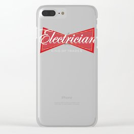 Electrician King of Trades Funny Gift Clear iPhone Case
