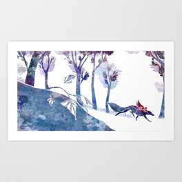 Petit chaperon rouge / Little Red Riding Hood Art Print