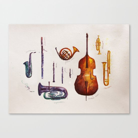 Wind Orchestra Canvas Print