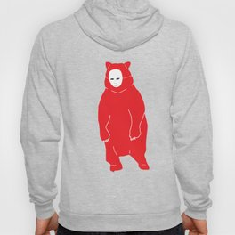Red Bear Mask Hoody