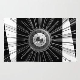 Mono Tock - Sunburst clock Rug