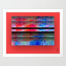 Red Color Blinds Art Print