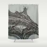 eiffel Shower Curtains featuring Eiffel by Esteban Garza