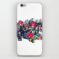 kingdom hearts iPhone & iPod Skins featuring Kingdom Hearts by Jaimie Hutton