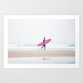 surfing beach vibes Art Print