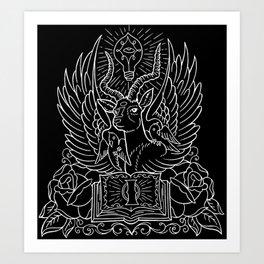 Information Antelope - White Lines Art Print