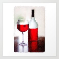 A glass a day Art Print