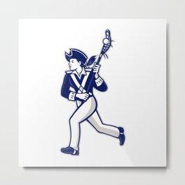 Female Patriot Lacrosse Player Mascot Metal Print
