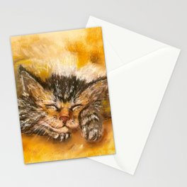 Sleepy Kitten Stationery Cards