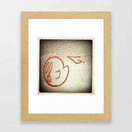 Graffiti Ghost Is Gonna Eat You Framed Art Print