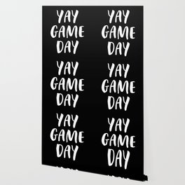 Yay Game Day Football Sports Team White Text Wallpaper