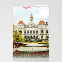 vietnam Stationery Cards featuring saigon-vietnam by nguyenkhacthanh