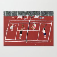 tennis Canvas Prints featuring Tennis by Angela Dalinger