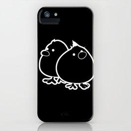 Fluffy little Chicks I Funny Chicken Egg Design design iPhone Case