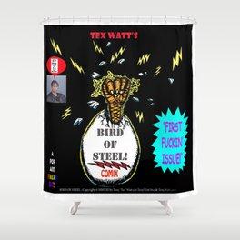 Bird of Steel Comix Cover - Society 6 UNDERGROUND POP ART SERIES  Shower Curtain