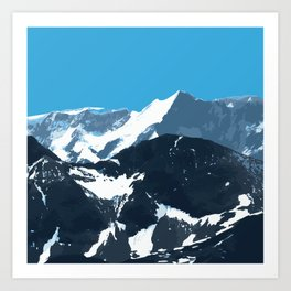 swiss mountains Art Print