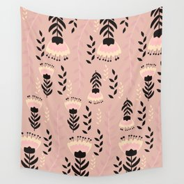 Floral blush Wall Tapestry