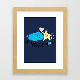 Cloudy Love Framed Art Print