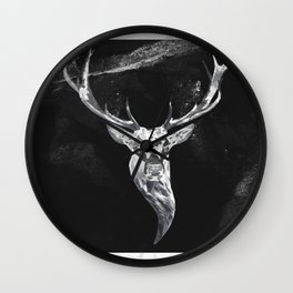 Deer in a montain Wall Clock