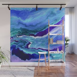 Dreamy Fluid Abstract Painting Wall Mural