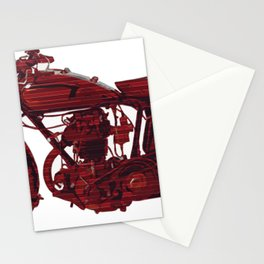 Red motorcycle lines Stationery Cards