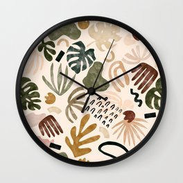 Pink tropical abstract 98 Wall Clock